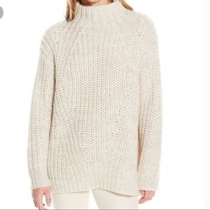 Sanctuary cream chunky knit wool blend sweater